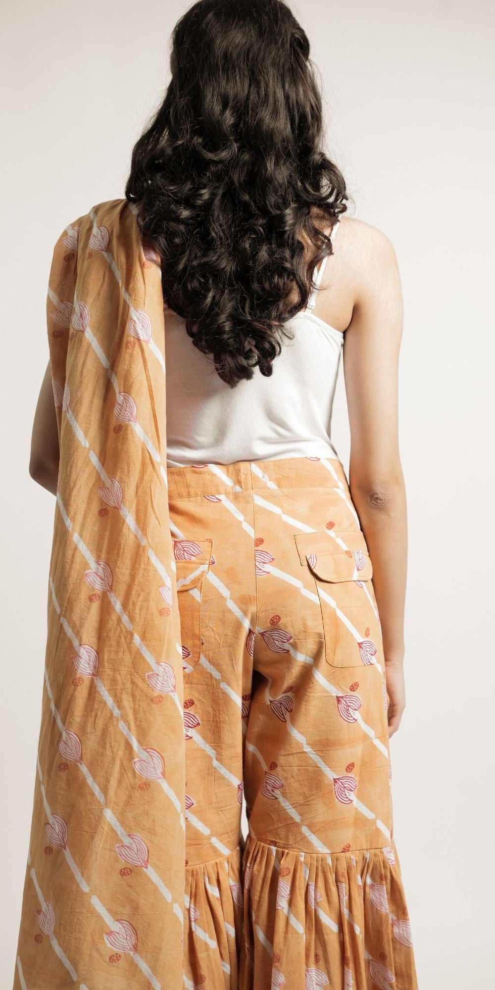 Spiced Nutmeg Saree Pant