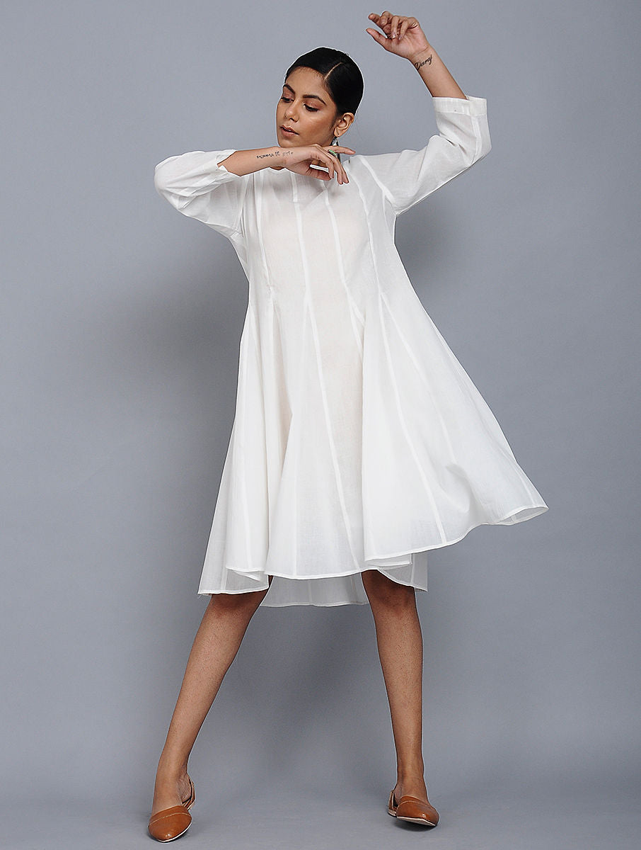 White Mull Cotton Dress