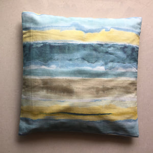 Water Color Texture Cotton Cushion Cover