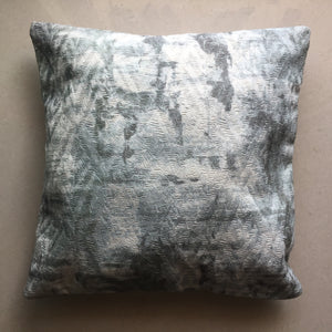 Grey and White Cotton Cushion Cover