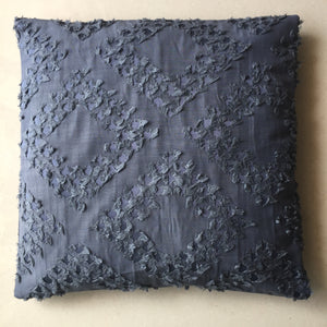 Dark Grey Texture Cotton Cushion Cover