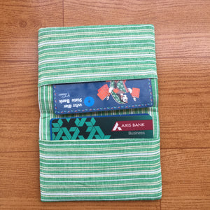 Dark Green Ikat Handcrafted Cotton Card Holder