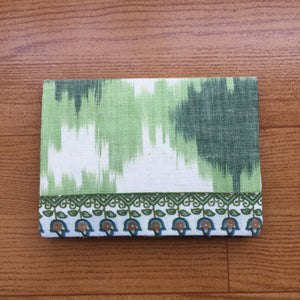 Green Ikat Handcrafted Cotton Card Holder