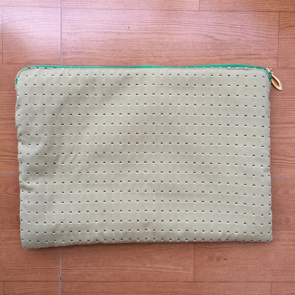 Olive Green Textured Gadget Sleeve