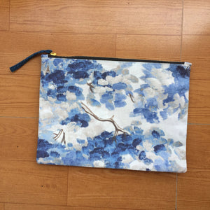 Blue Water Color Textured Pouch