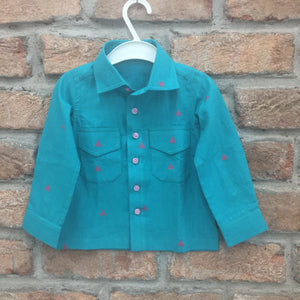 Sea Green Cotton Shirt