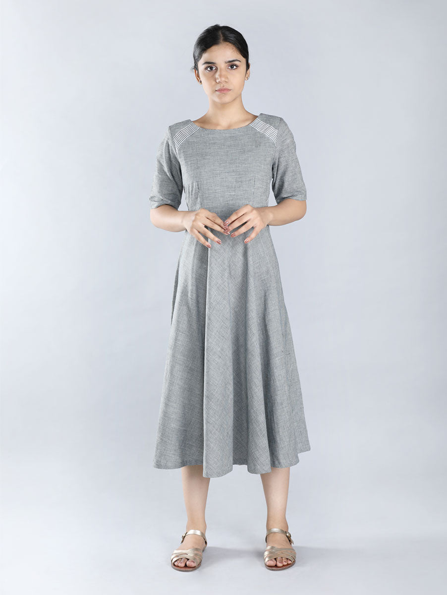 Grey Hand Spun Cotton Dress