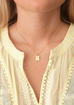 Cross Chain Necklace gold 45
