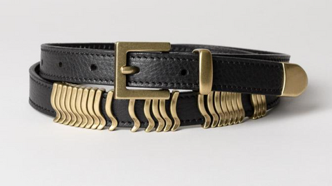 Cala & Jade Rattle Belt black/gold