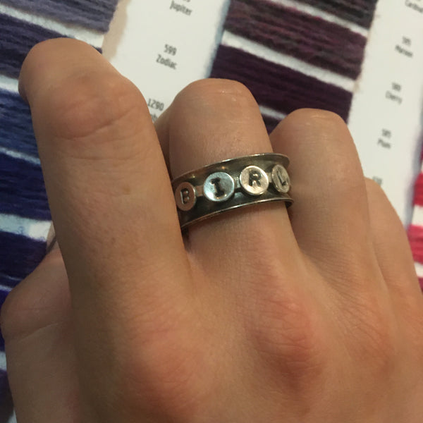 KNIT Spinner Ring