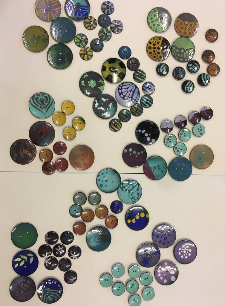 Enamel Your Own Buttons - Arrange Your Own Class - Full Day Class