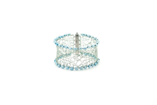 Knit Your Own Silver Lace Cuff - Kit plus 2 week online class Thursday 22nd and 29th April 1400 - 1600 BST