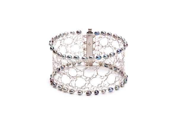 Knit Your Own Silver Lace Cuff - Arrange Your Own Workshop