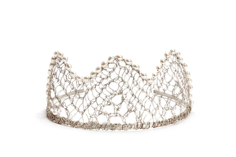 Metal lace tiara