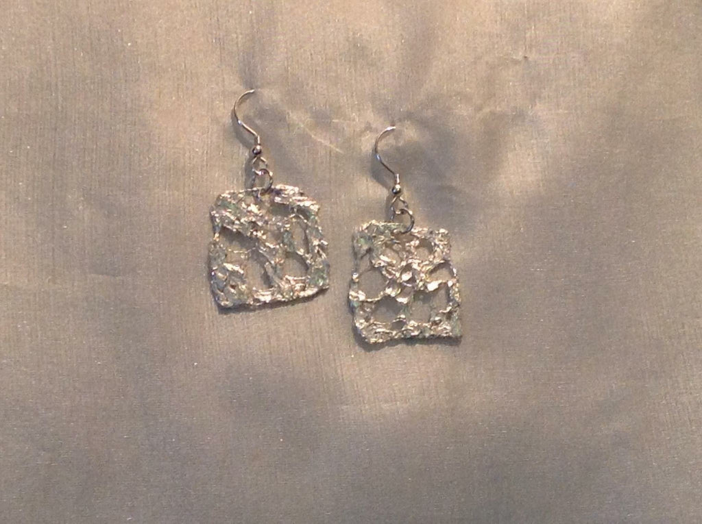 Large Silver Frost Earrings