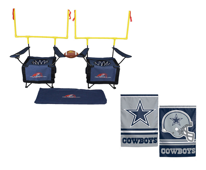 QB54 Cowboy Bundle - Contains 1 QB54 game and 1 Dallas Cowboys Flag (Navy Set)