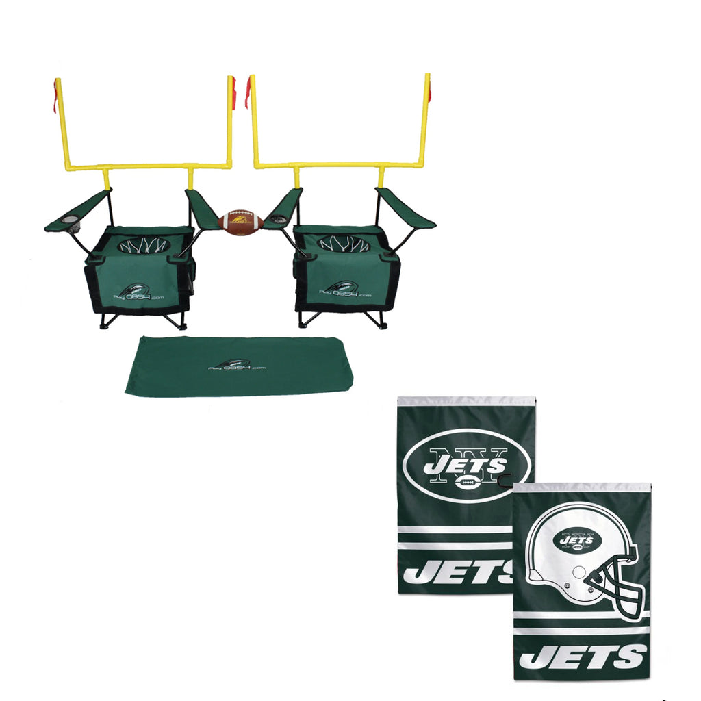 QB54 Jets Bundle - Contains 1 QB54 game and 1 New York Jets Flag
