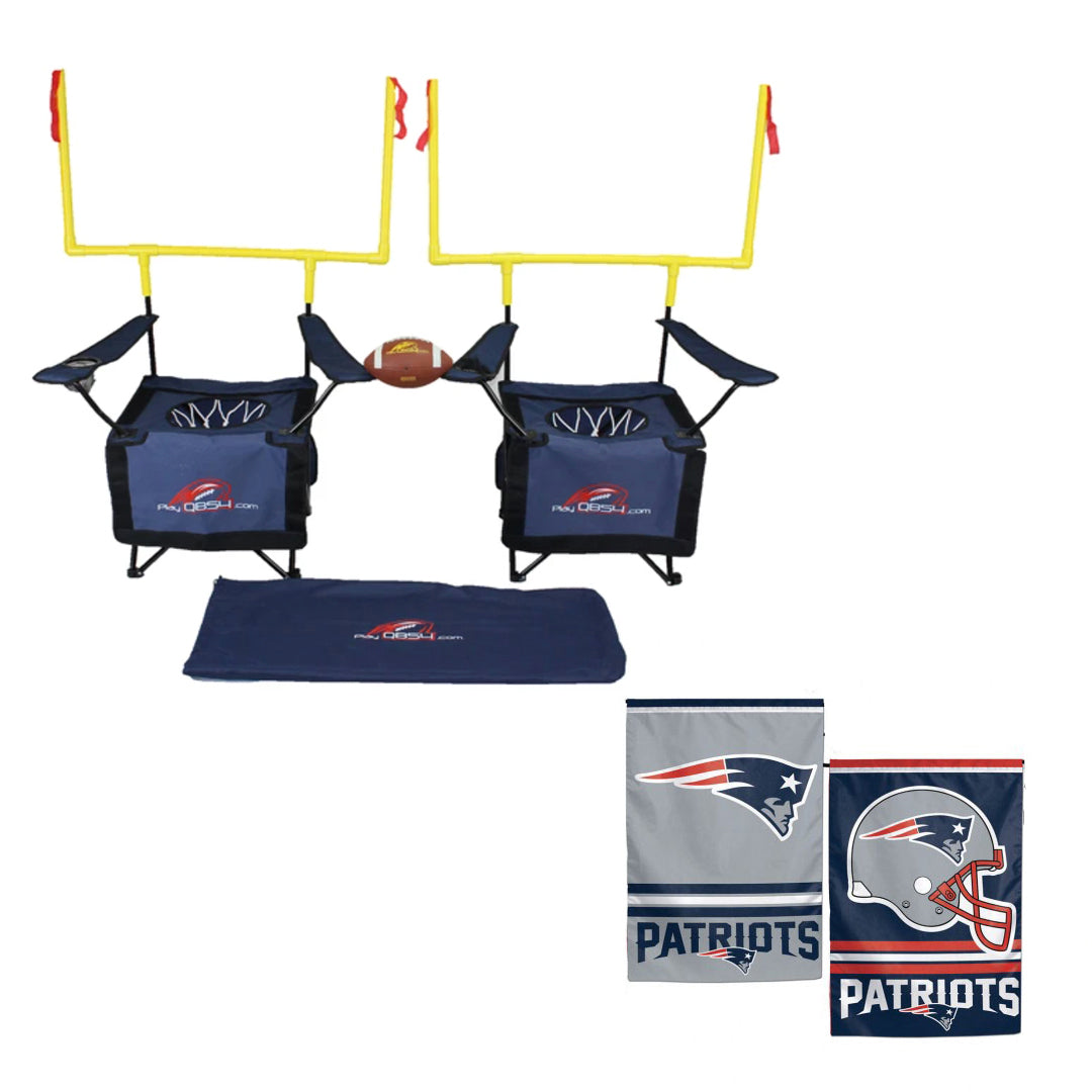 New England Patriots Bundle - Contains 1   game and 1 New England Patriots Flag (Navy Set)
