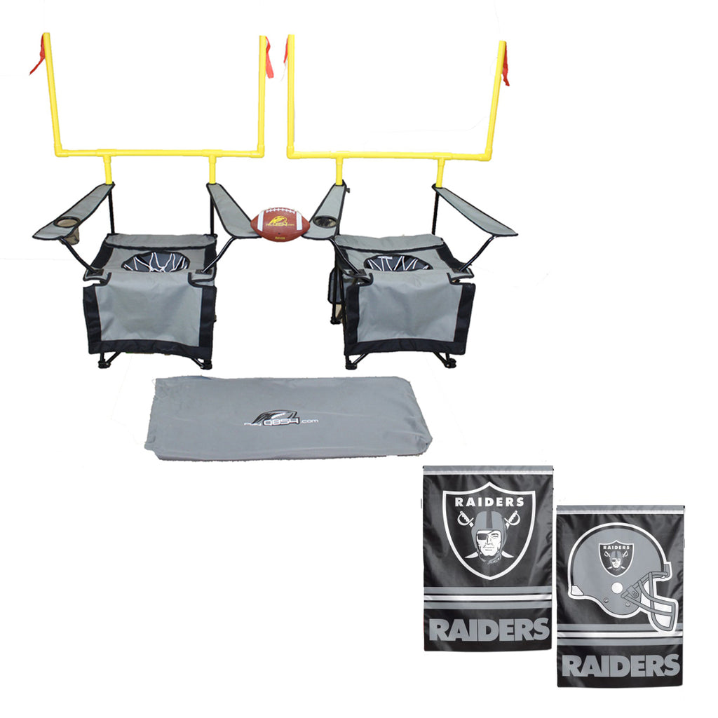 QB54 Raiders Bundle - Contains 1 QB54 game and 1 Las Vegas Raiders Flag (SilverSet)