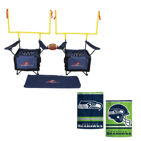 QB54 Seattle Seahawks Bundle - Contains 1 QB54 game and 1 Seattle Seahawks Flag (Navy Set)