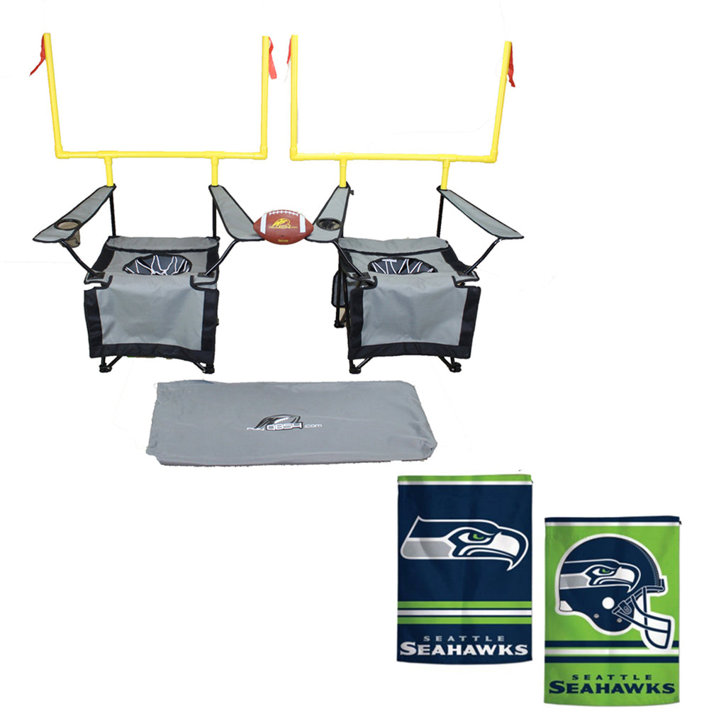 QB54 Seattle Seahawks Bundle - Contains 1 QB54 game and 1 Seattle Seahawks Flag (SilverSet)