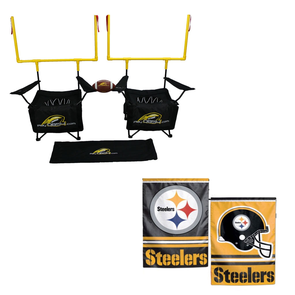 QB54 Steeler Bundle - Contains 1 QB54 game and 1 Pittsburgh Steeler Flag