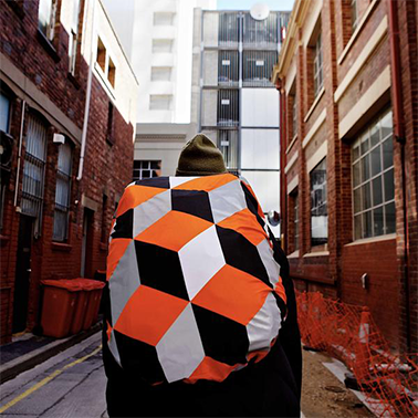 Escher  -  Reflective bag cover