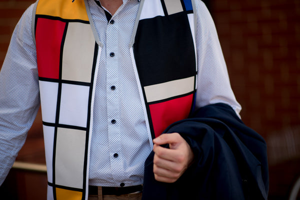 Men's reflective bike vest by Hey Reflect'O. Mondrian