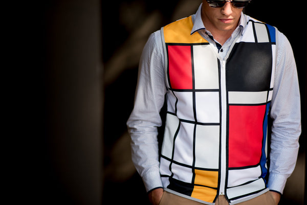 Mens reflective bike vest by Hey Reflect'O. Mondrian