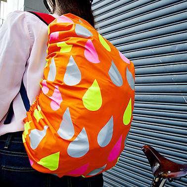 Raindrops  - Reflective bag covers
