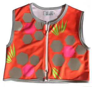 Kids reflective cycling vests