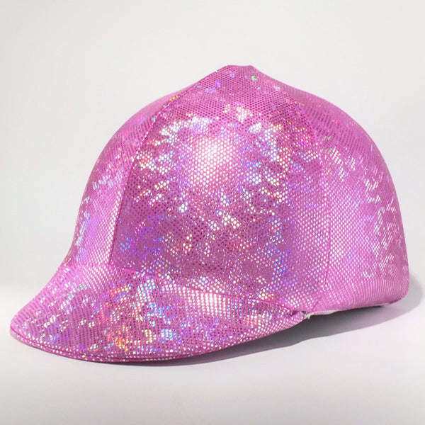 Pretty in Pink - Bling Lycra Helmet Cover