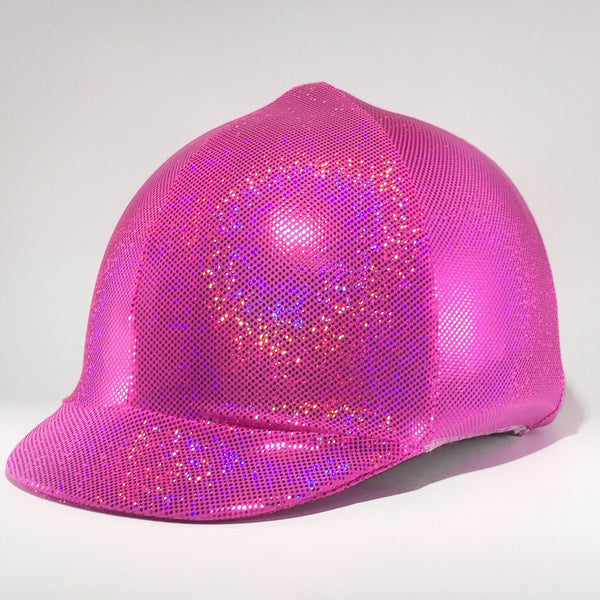 Hot Pink - Bling Lycra Helmet Cover