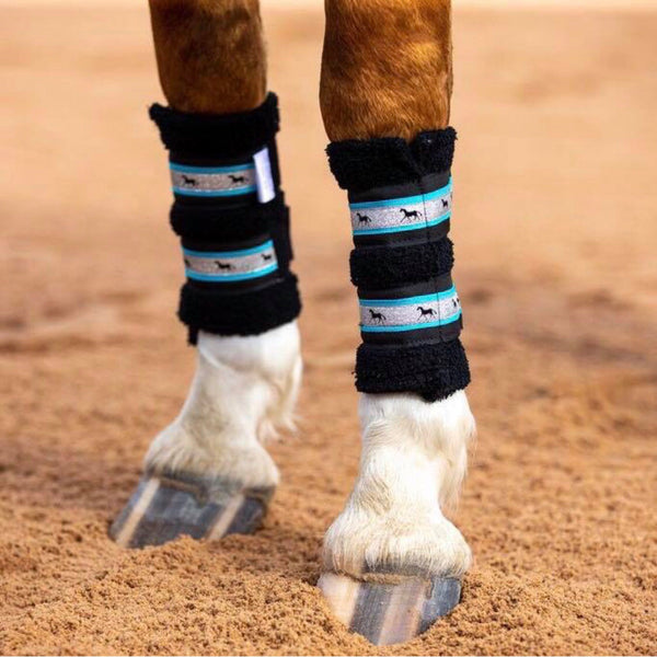 Deluxe Horse Boots - Aqua Galaxy (set of 4)