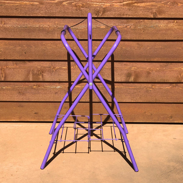Purple Saddle Stand