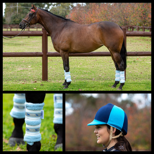 Deluxe Horse Boots - Blue Skies (set of 4)