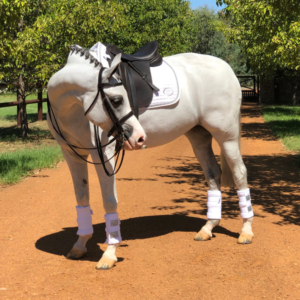 Platinum Towelling Boots - White - NEW!