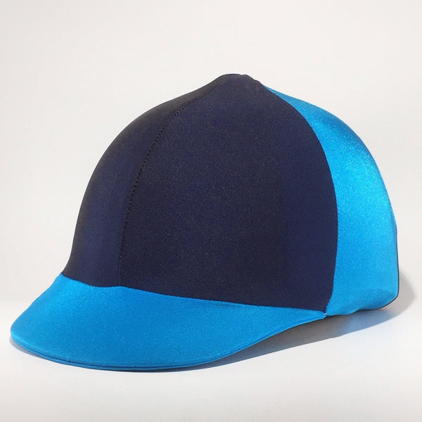 Beautiful Blues - Lycra Helmet Cover