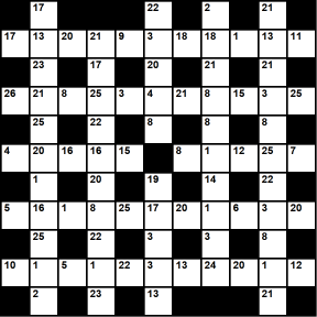 Australian 11x11 codeword puzzle no.301