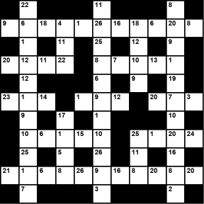 Australian 11x11 codeword puzzle no.302