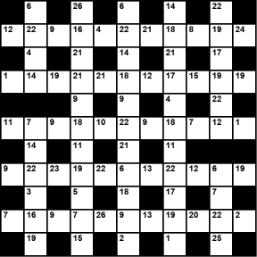 Australian 11x11 codeword puzzle no.305
