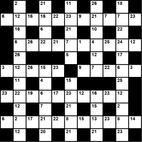 Australian 11x11 codeword puzzle no.310