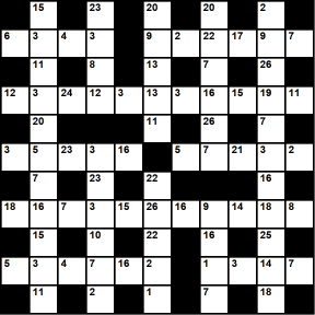 Australian 11x11 codeword puzzle no.316