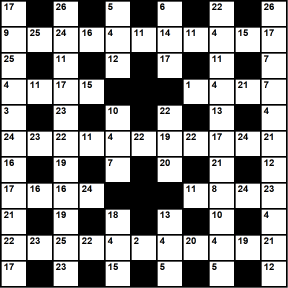 Australian 11x11 codeword puzzle no.318
