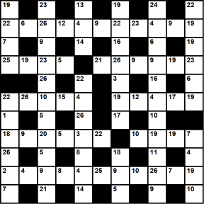 Australian 11x11 codeword puzzle no.326