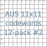 Australian 11x11 codeword puzzles 12-pack no.2
