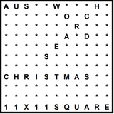 Australian 11x11 Wordsearch puzzle no.301 - Christmas