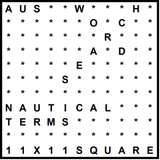 Australian 11x11 Wordsearch puzzle no.308 - nautical terms
