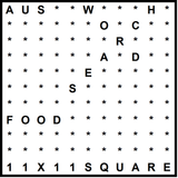 Australian 11x11 Wordsearch puzzle no.309 - food