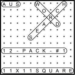 Australian 11x11 Wordsearch puzzles 12-pack no.1